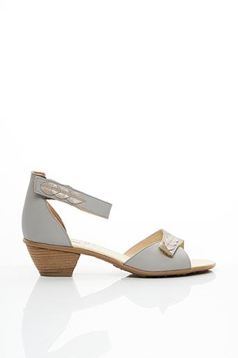 Sandales/Nu pieds gris KIM pour femme