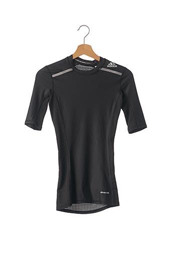 T-shirt manches courtes noir ADIDAS pour femme