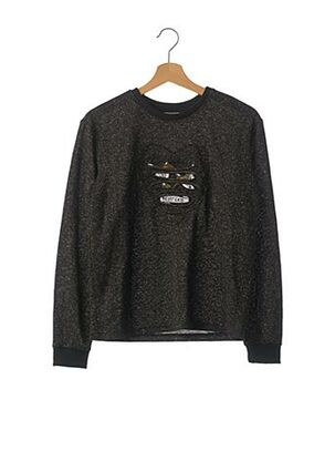 Pull col rond noir NAME IT pour fille