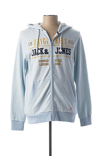Veste casual bleu JACK & JONES pour homme