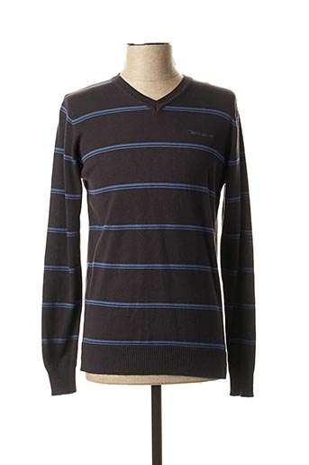 Pull col V noir TEDDY SMITH pour homme