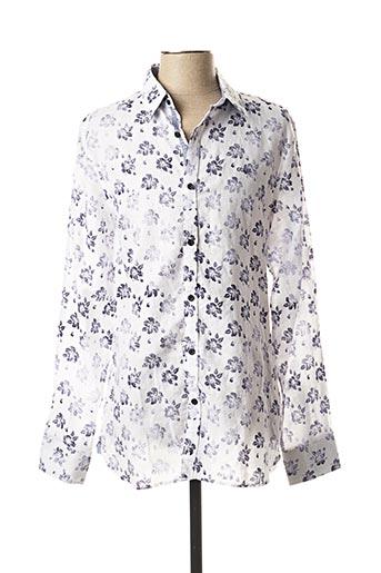 Chemise manches longues blanc GUESS pour homme
