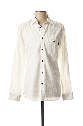 Chemise manches longues blanc JACK & JONES pour homme