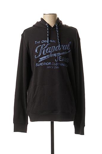 Sweat-shirt noir KAPORAL pour homme
