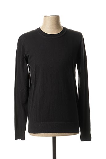 Pull col rond noir TEDDY SMITH pour homme