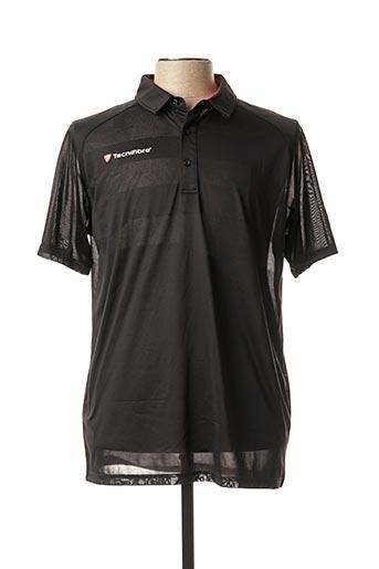T-shirt manches courtes noir TECHNIFIBRE pour homme