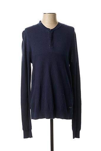 T-shirt manches longues bleu TEDDY SMITH pour homme