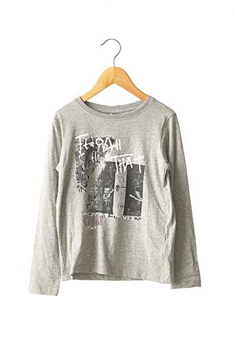 T-shirt manches longues gris NAME IT pour garçon