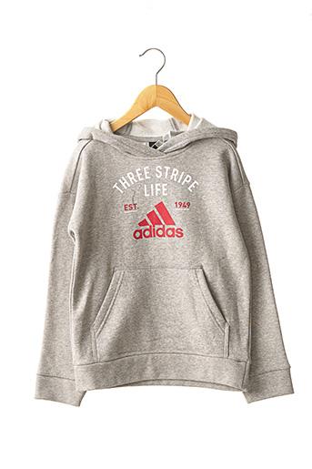 Sweat-shirt gris ADIDAS pour garçon