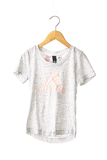 T-shirt manches courtes gris ADIDAS pour fille