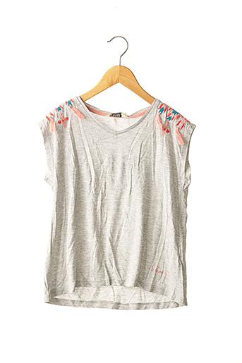 T-shirt manches courtes gris KAPORAL pour fille