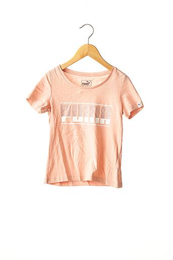 T-shirt manches courtes rose PUMA pour fille