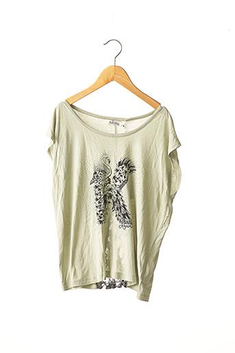 T-shirt manches courtes vert KAPORAL pour fille