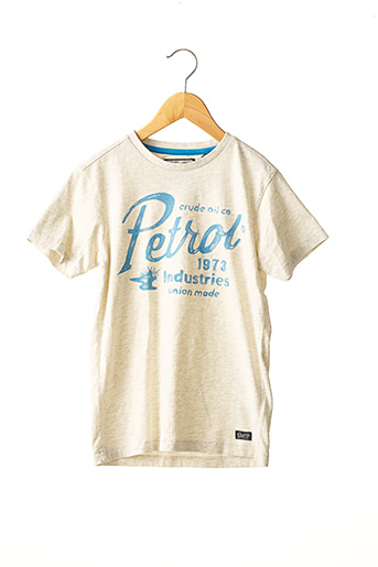 T-shirt manches courtes beige PETROL INDUSTRIES pour garçon