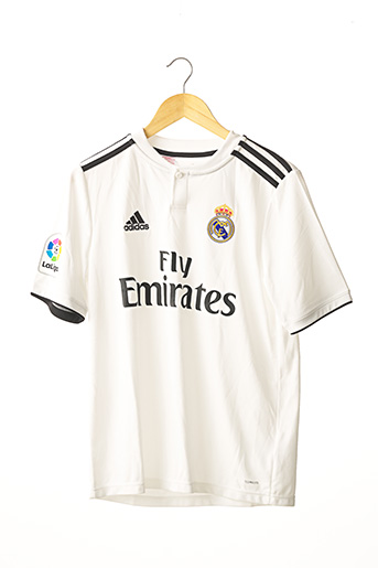 T-shirt manches courtes blanc ADIDAS pour garçon