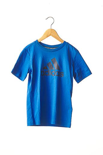 T-shirt manches courtes bleu ADIDAS pour garçon