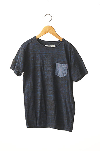 T-shirt manches courtes bleu KAPORAL pour garçon