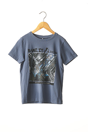 T-shirt manches courtes bleu NAME IT pour garçon