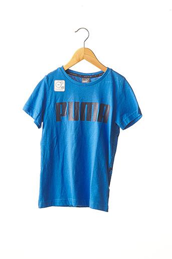 T-shirt manches courtes bleu PUMA pour garçon