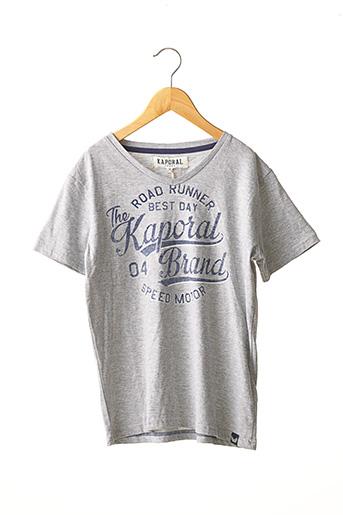T-shirt manches courtes gris KAPORAL pour garçon