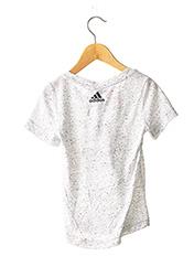 T-shirt manches courtes gris ADIDAS pour fille seconde vue