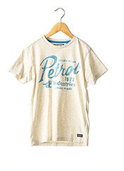 T-shirt manches courtes beige PETROL INDUSTRIES pour garçon seconde vue