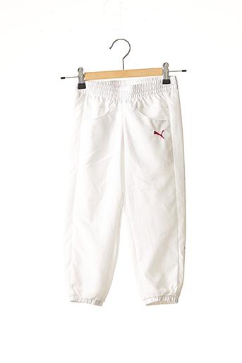Jogging blanc PUMA pour fille