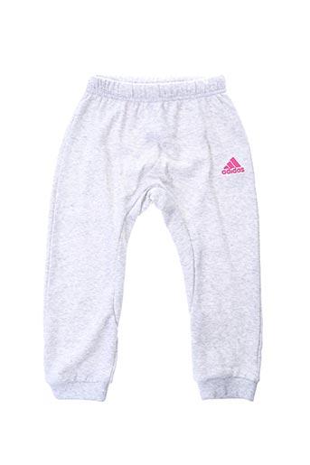 Jogging gris ADIDAS pour fille