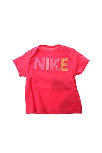 T-shirt manches courtes rouge NIKE pour enfant