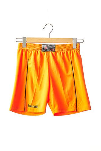 Short orange SPALDING pour garçon