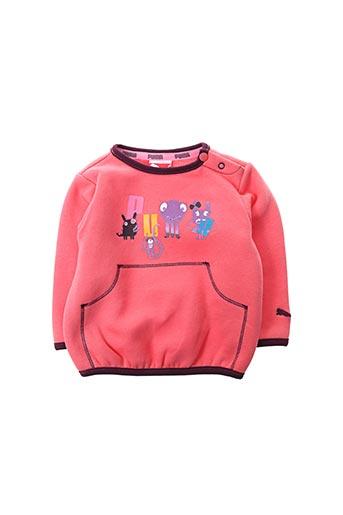 Sweat-shirt rose PUMA pour fille