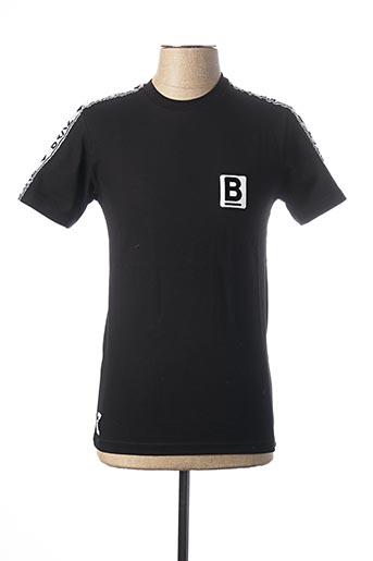 T-shirt manches courtes noir BRAZ pour homme