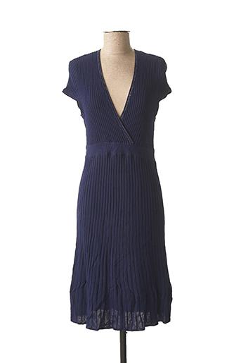 Robe mi-longue bleu MORGAN pour femme