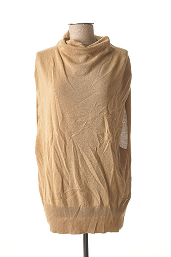 Pull col roulé beige MARCIANO pour femme