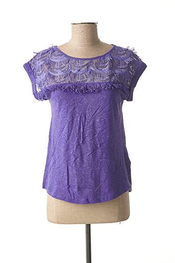 T-shirt manches courtes violet MORGAN pour femme