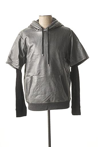Sweat-shirt gris GUESS pour homme