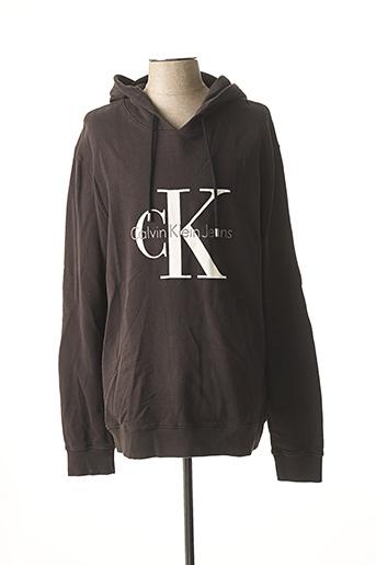 Sweat-shirt noir CALVIN KLEIN pour homme
