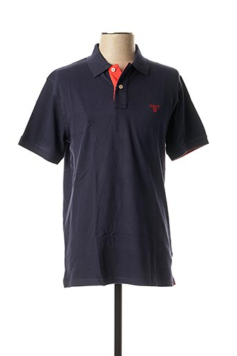 Polo manches courtes bleu GANT pour homme