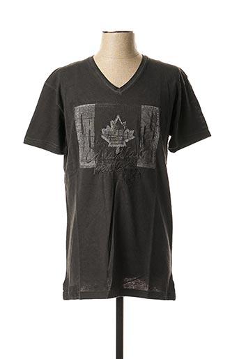 T-shirt manches courtes gris CANADIAN PEAK pour homme