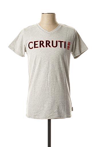 T-shirt manches courtes gris CERRUTI 1881 pour homme