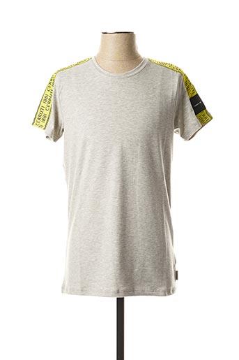 T-shirt manches courtes gris CERUTTI pour homme