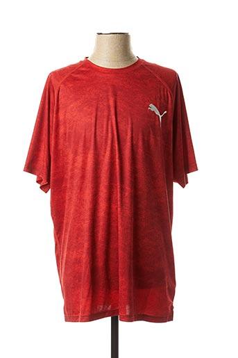 T-shirt manches courtes rouge PUMA pour homme