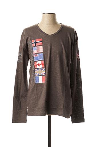 T-shirt manches longues gris CANADIAN PEAK pour homme