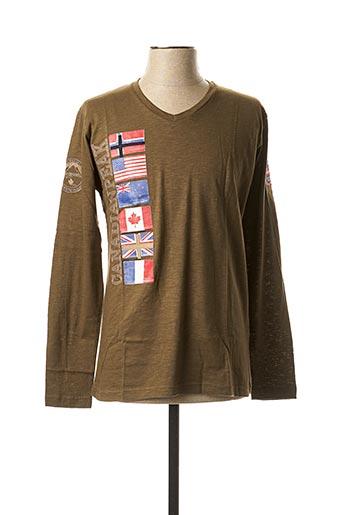 T-shirt manches longues vert CANADIAN PEAK pour homme