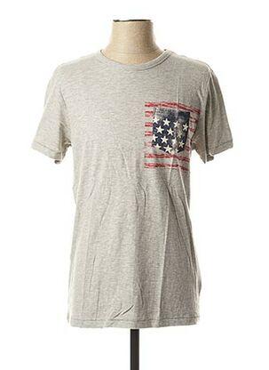 T-shirt manches courtes gris SCHOTT pour homme