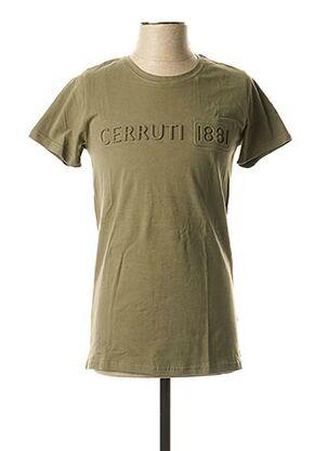 T-shirt manches courtes vert CERRUTI 1881 pour homme