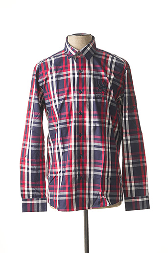Chemise manches longues rouge FRANK FERRY pour homme
