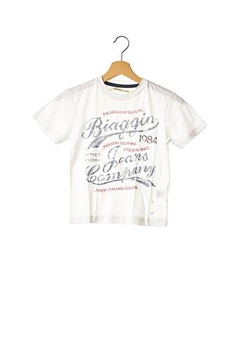 T-shirt manches courtes blanc BIAGGIO pour garçon