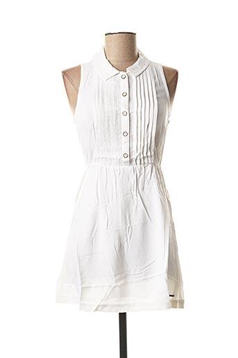 Robe mi-longue blanc ELEMENT pour femme