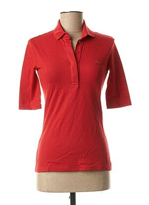 Polo manches courtes rouge LACOSTE pour femme